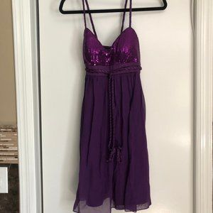 Democracy purple dress size 2 with sequins